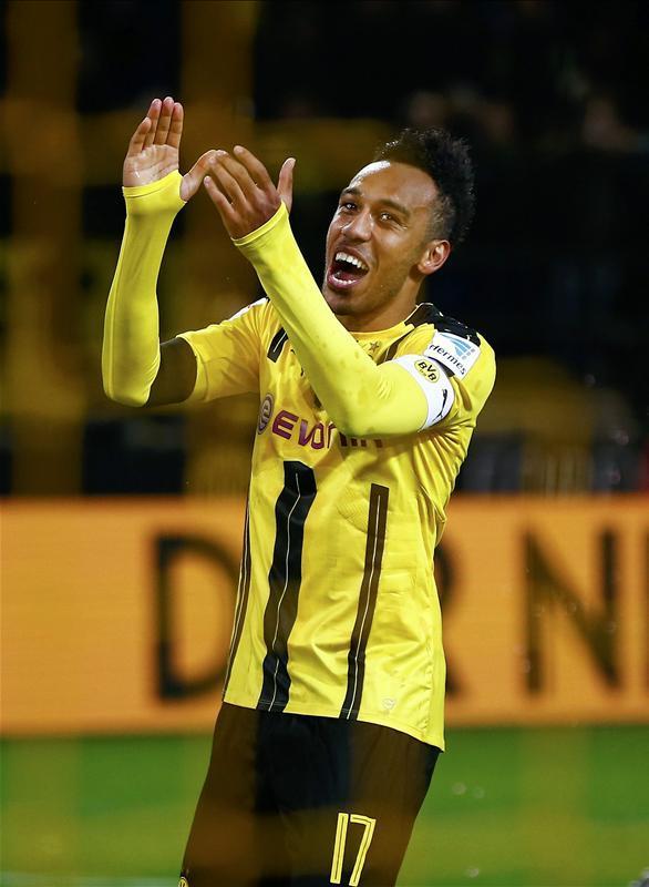 Pierre-Emerick Aubameyang Aubameyang wants Dortmund progress Pierre-Emerick Aubameyang, Borussia Dortmund
