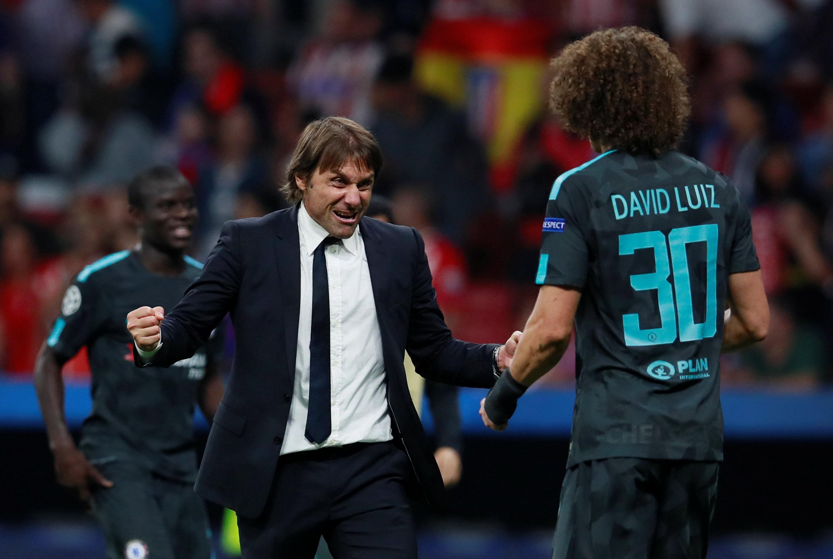 Antonio Conte,David Luiz,Chelsea  Antonio Conte,David Luiz,Chelsea
