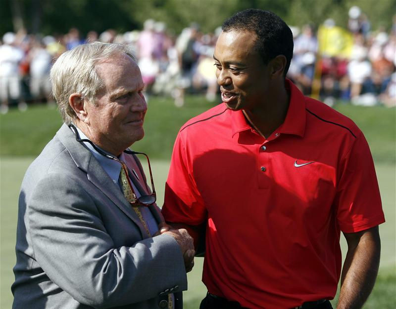 Jack Nicklaus, Tiger Woods Nicklaus puzzled by Woods struggles Jack Nicklaus, Tiger Woods, Golf